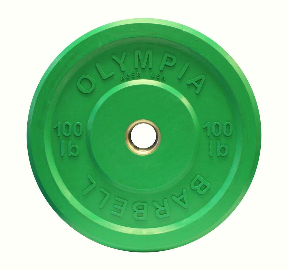 100 Lb Olympic Rubber Bumper Weight Plate O 100lb Ebay