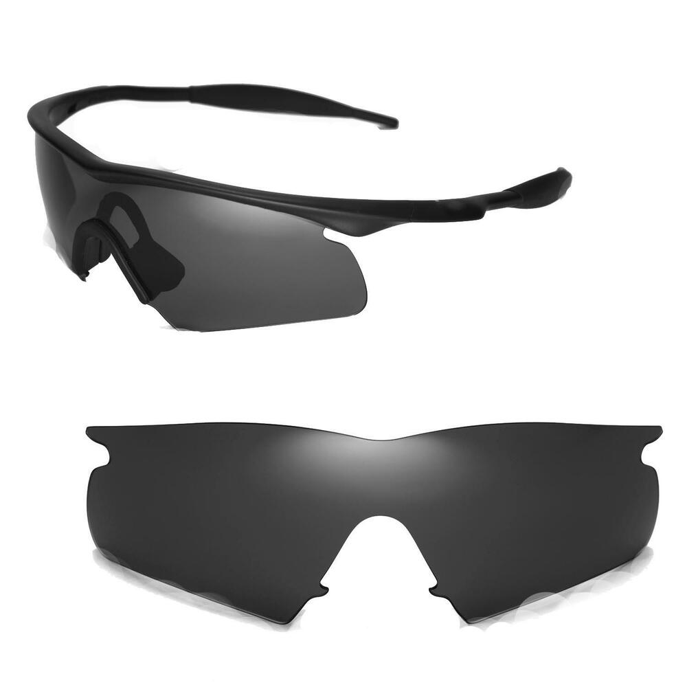 New Walleva Black Replacement Lenses For Oakley New M