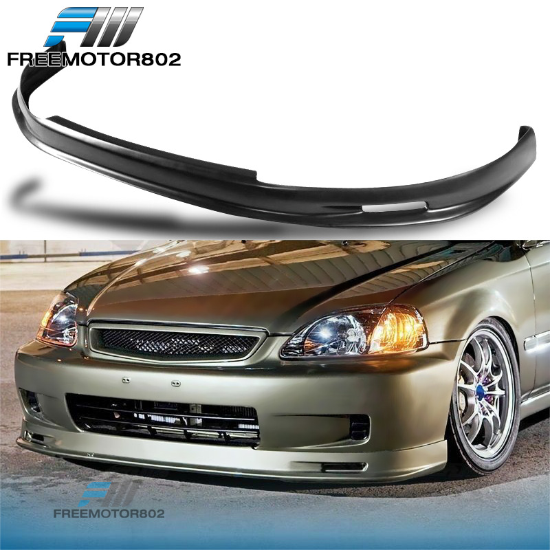 front bumper lip spoiler wing bodykit pp fit honda civic. Black Bedroom Furniture Sets. Home Design Ideas