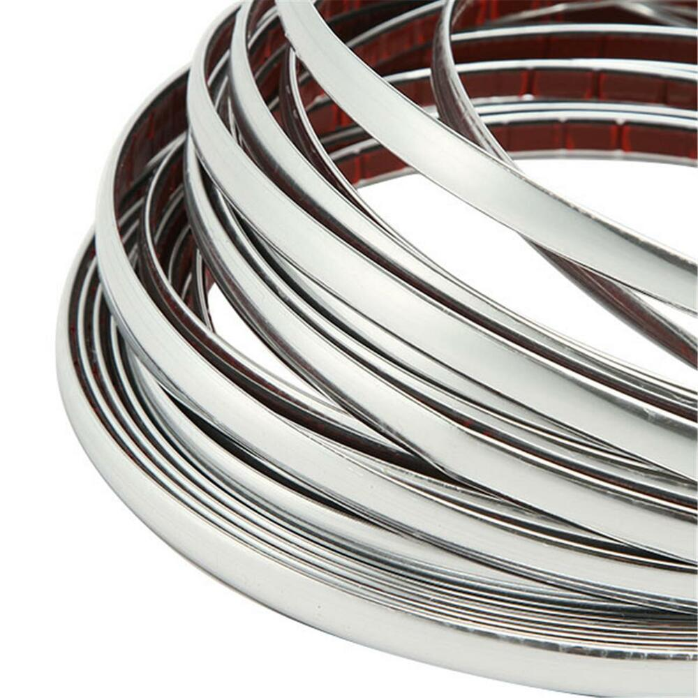 car chrome molding trim strip window decoration bumper grille silver 10mm ebay. Black Bedroom Furniture Sets. Home Design Ideas