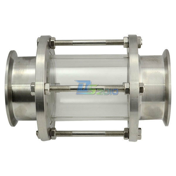 Quot mm flow sanitary sight glass tri clamp type stainless