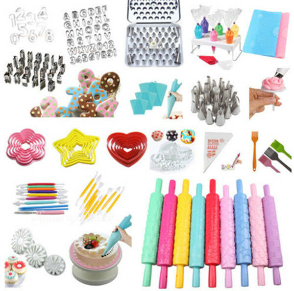 fondant cake cookies decorating sugarcraft cutter icing tools baking