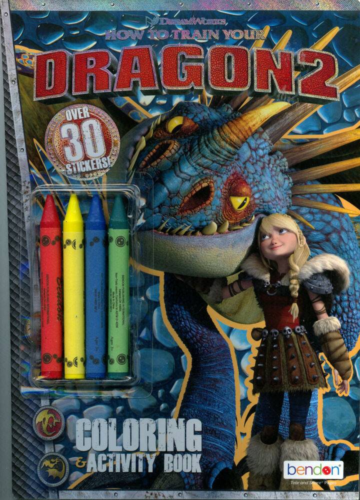 How To Train Your Dragon Coloring Book Rare Unused Ebay