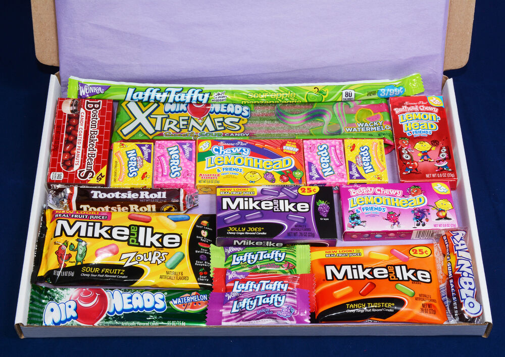 American Candy Gift Box - USA Sweets - Birthday Present - H&er - Mike and Ike   eBay & American Candy Gift Box - USA Sweets - Birthday Present - Hamper ... Aboutintivar.Com