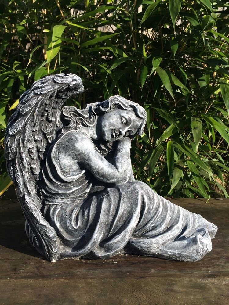 Large Posing Angel Statue Garden Ornament Latex And