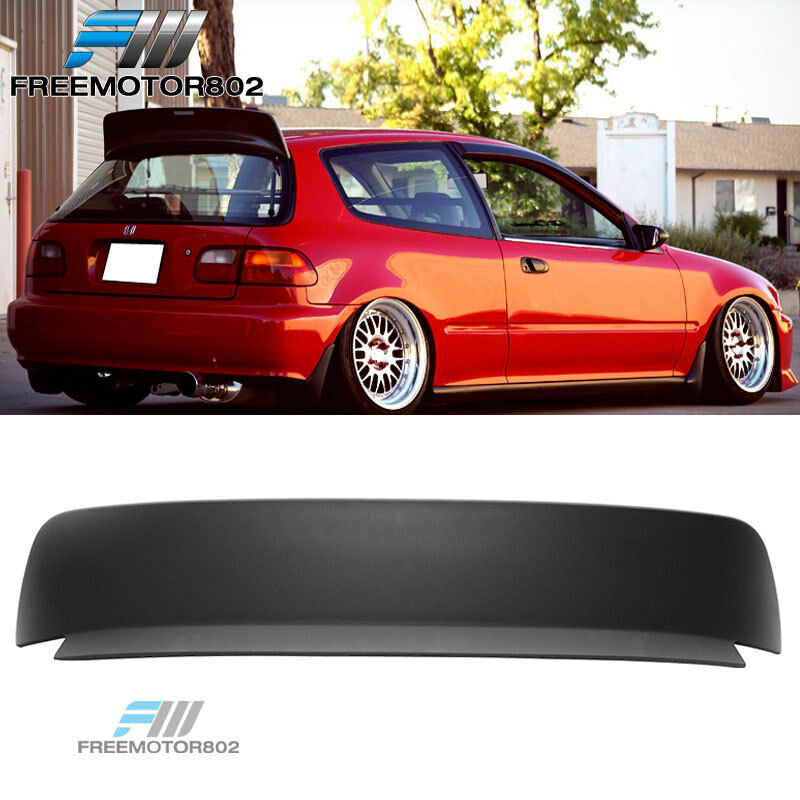 Civic Hatch: FOR 92-95 HONDA CIVIC 3DR HATCHBACK ABS BLACK ROOF SPOILER