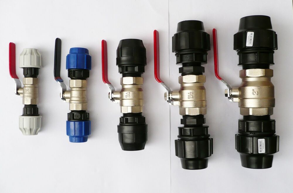 Plated brass ball valve heavy duty to compression