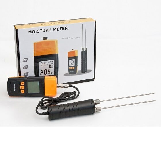Ce approved digital wood moisture meter damp detector for Wood floor moisture meter
