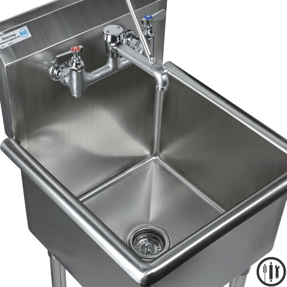 Stainless Steel Mop Sink And Service Sink Faucet Package