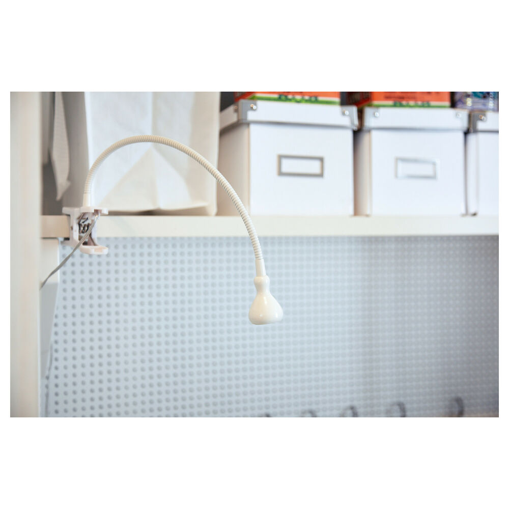ikea jansjo led clamp on lamp table desk study work light free shipping ebay. Black Bedroom Furniture Sets. Home Design Ideas
