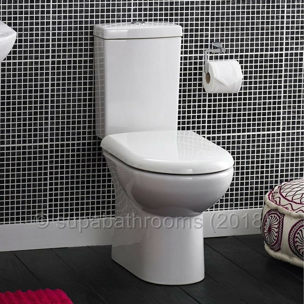 Short Projection Wc Compact Close Coupled Toilet Pan
