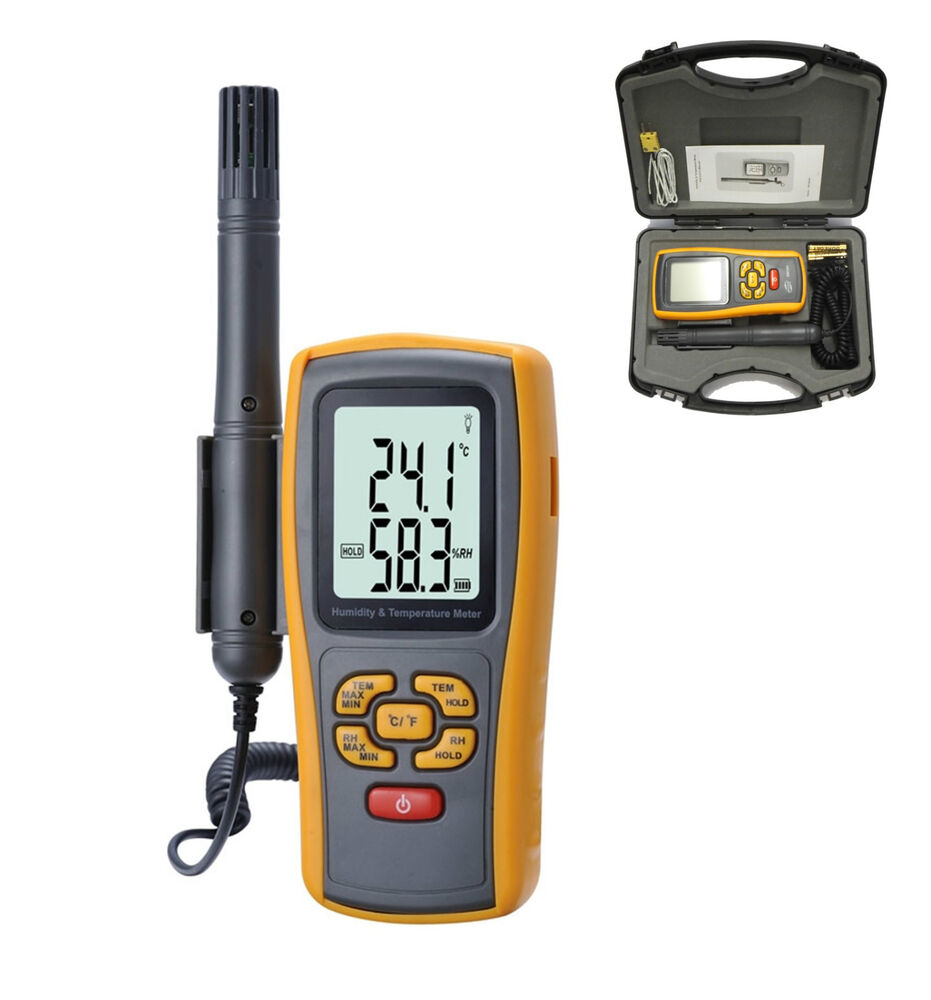 Digital Humidity Meter : Ce approved digital humidity and temperature meter