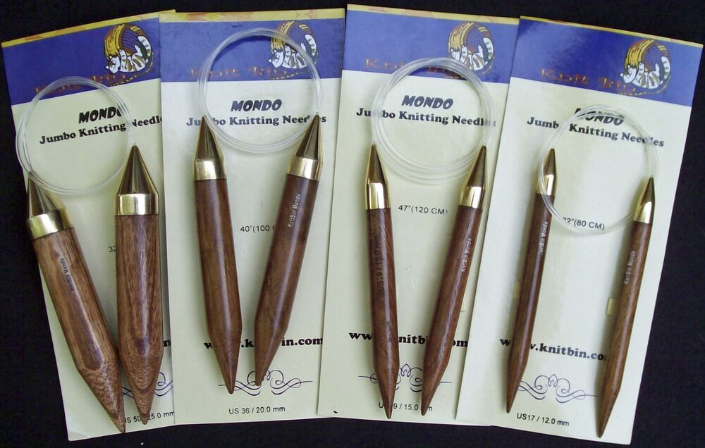 Knitting Needle Sizes : Knit Bin Mondo Jumbo Circular Knitting Needles; Choose Length and Size ...