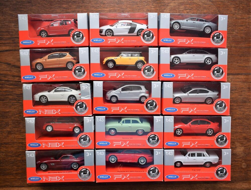 Welly 1 43 Diecast Fiat 500 Porsche 911 Bmw 535i Jaguar Xj