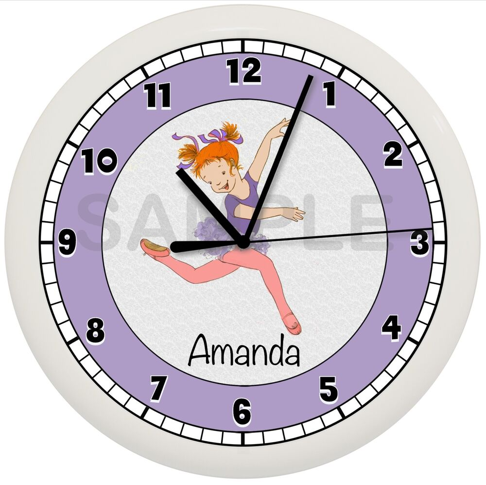 Bedroom Wall Clock Design : Ballerina wall clock personalized purple ballet dance