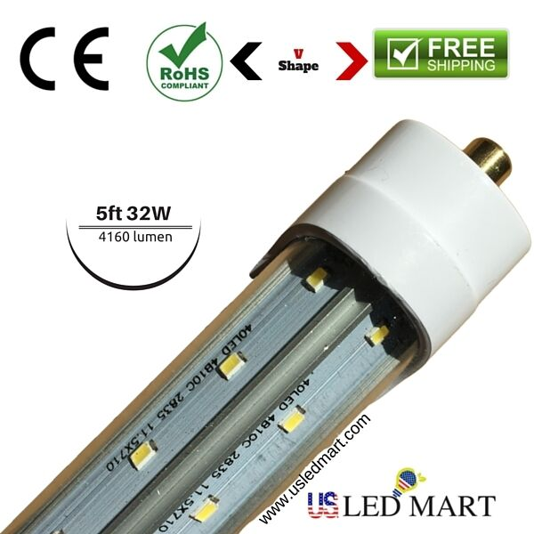 Single Pin Led Cooler Door Light For Retrofit 5ft 32w 130
