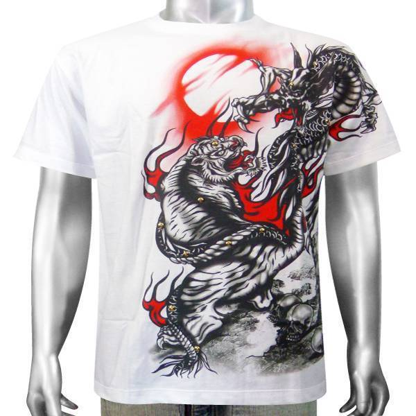 Japanese tattoo chinese dragon bengal tiger cat animal for The girl with the dragon tattoo t shirt