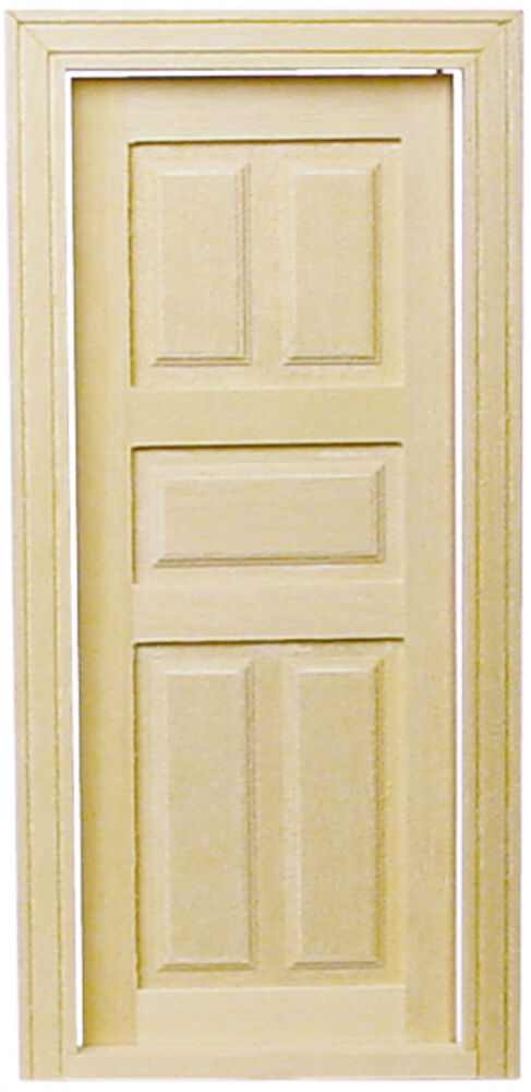 dollhouse houseworks 5 panel classic interior door 1 12