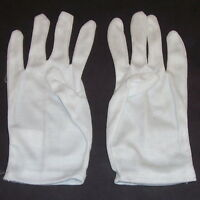 White Cotton Gloves Clown Magician Parade Band Large Child - Small Adult