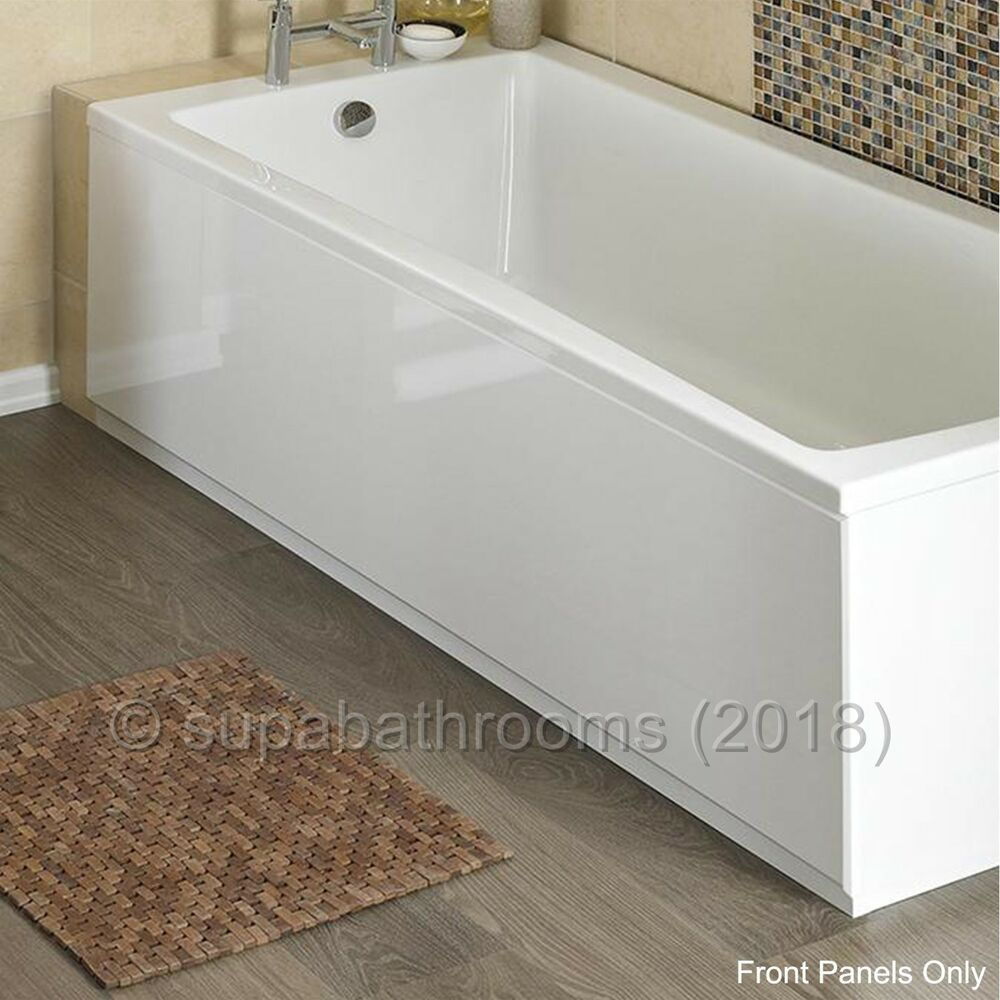 Mdf High Gloss White Wooden Bath Adjustable Front Panel