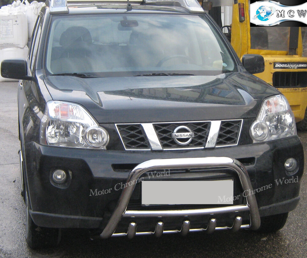 Nissan X Trail Bull Bar Chrome Axle Nudge A Bar 60mm