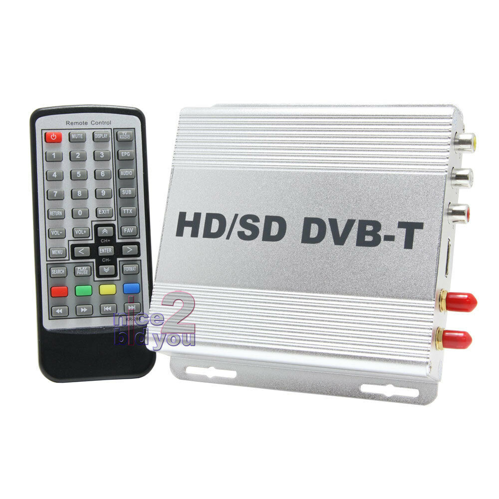 new in car dvb t digital tv tuner hdmi 2 antenna freeview receiver box mpeg4 pvr ebay. Black Bedroom Furniture Sets. Home Design Ideas