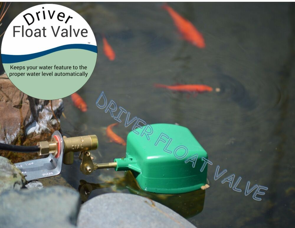 Float valve auto fill for fish pond koi pond short for Koi pond motors