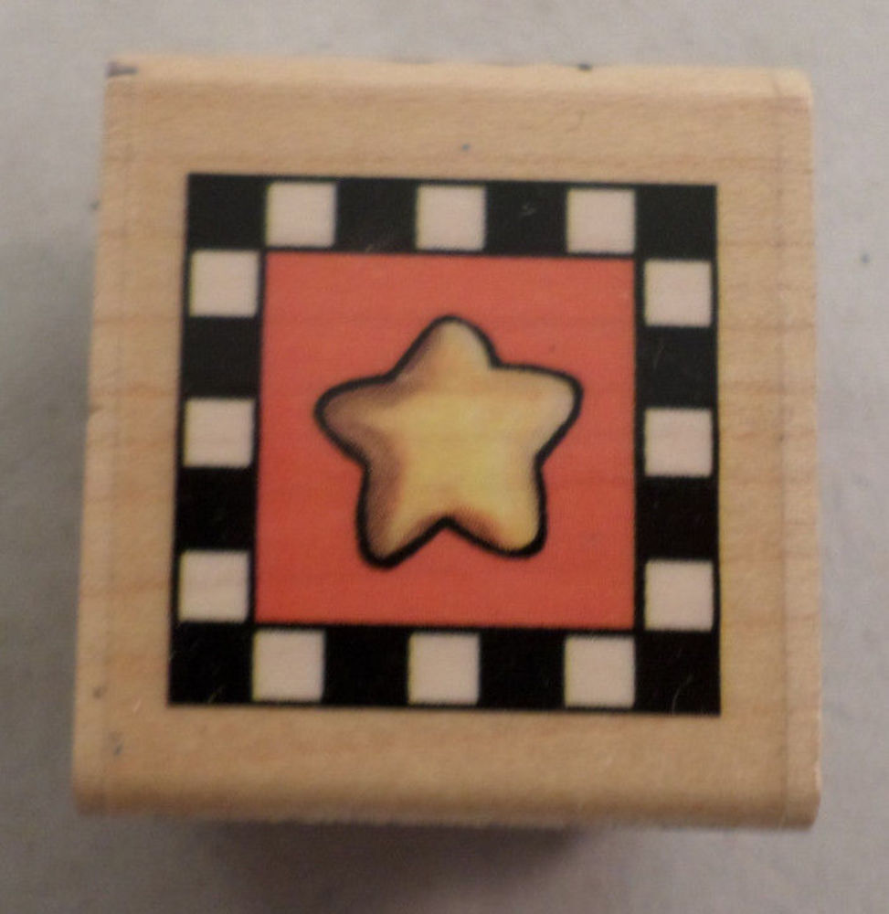 Brother sister design studio whimsical star box square wooden rubber