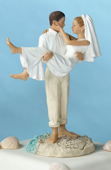 Bride Carrying Groom Cake Topper