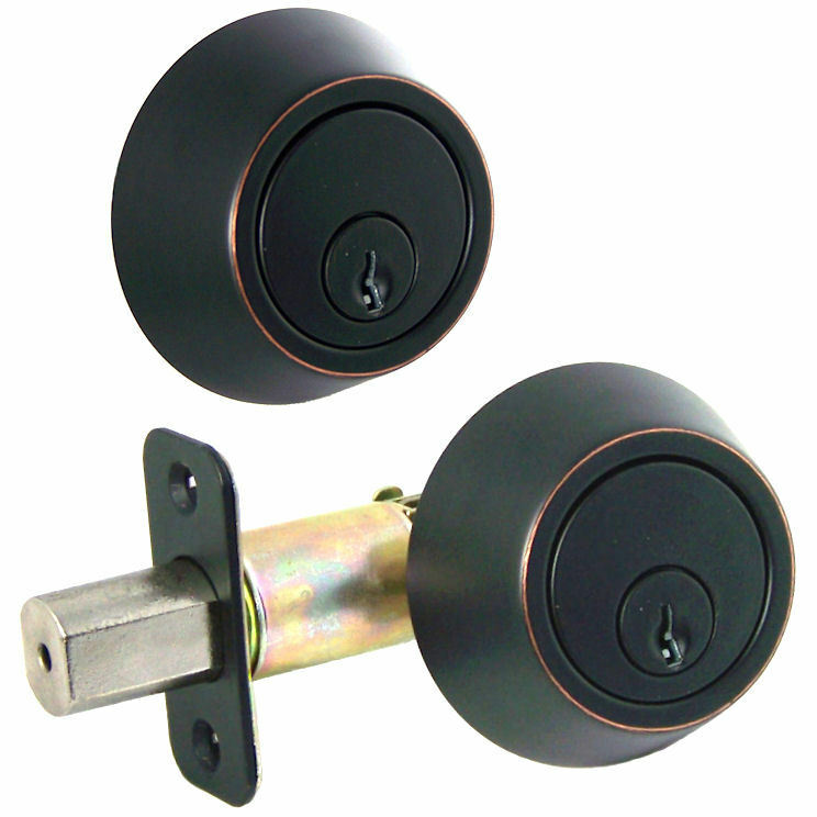 Villa Oil Rubbed Bronze Double Cylinder Deadbolt Door Lock