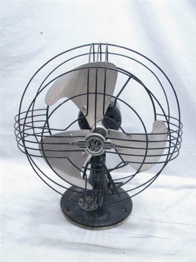 History About The Electric Fan : Vintage s general electric ge vortalex art deco