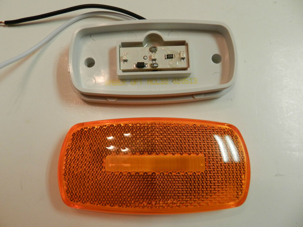 Amber 4 Quot Truck Trailer Rv Clearance Marker Lights 3 Led