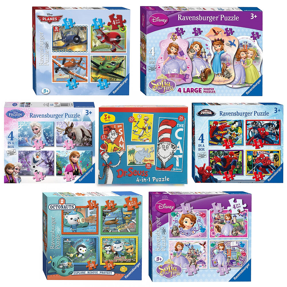 disney ravensburger 4 in a box jigsaw puzzle toy games