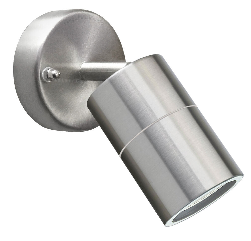 Adjustable wall light stainless steel outdoor use with led - Led light bulbs for exterior use ...
