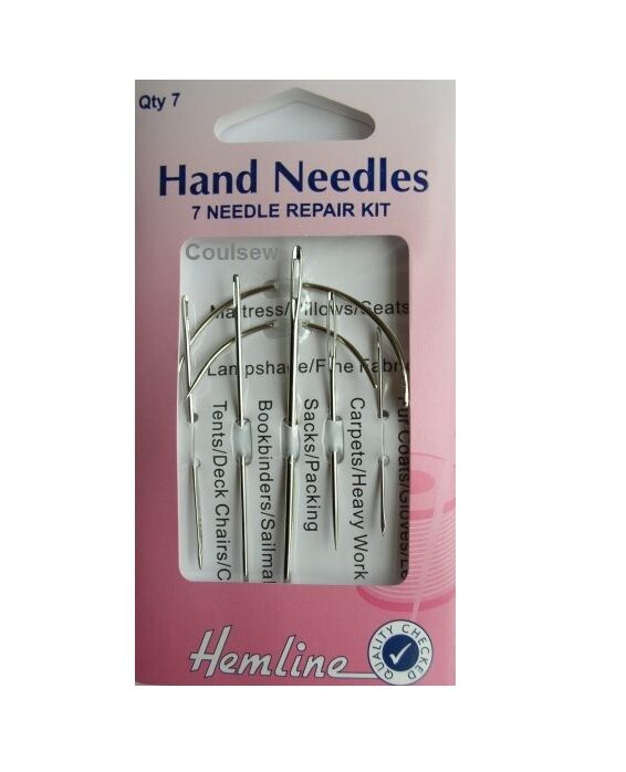 Needle Repair Kit Hand Sewing Needles Curved Rugs Coats
