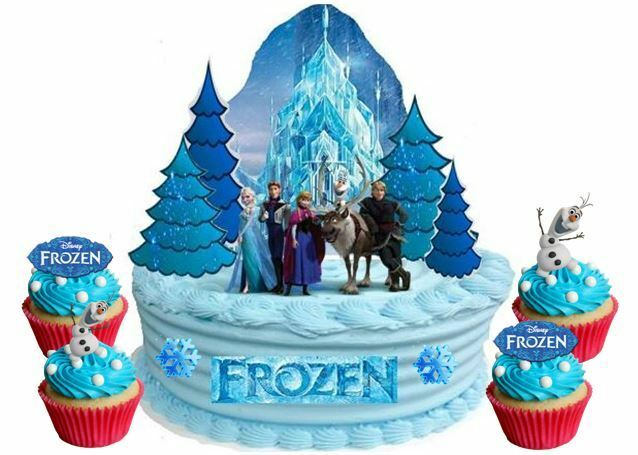 Edible Disney Princess Frozen Ice Castle Wafer Card