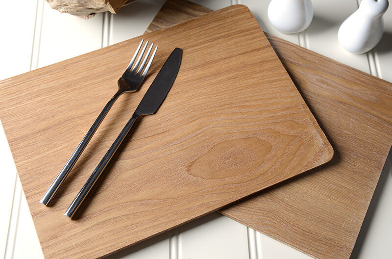 set of 8 naturals oak veneer placemats table mats by