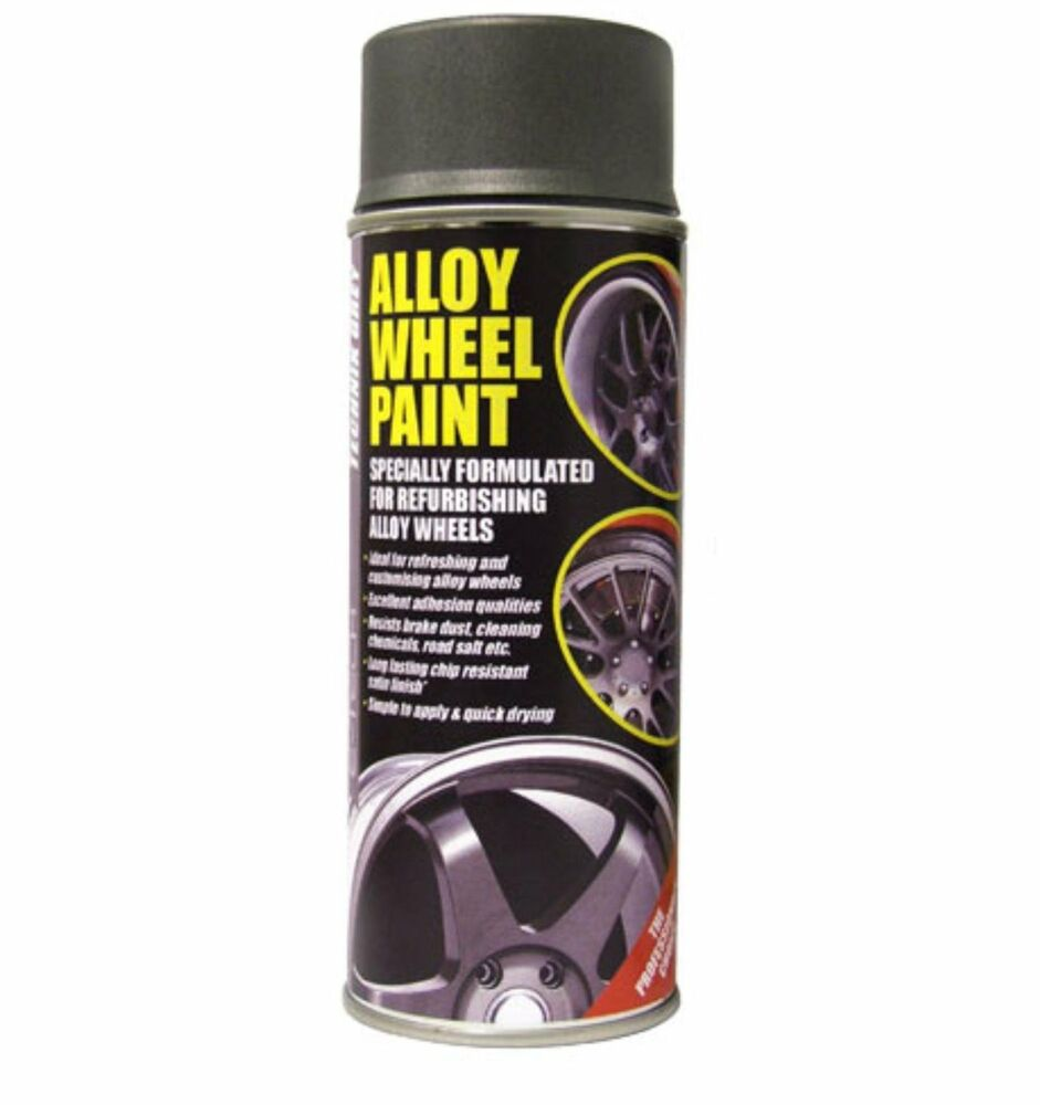 anthracite grey e tech car alloy wheel spray paint 400ml can chip. Black Bedroom Furniture Sets. Home Design Ideas
