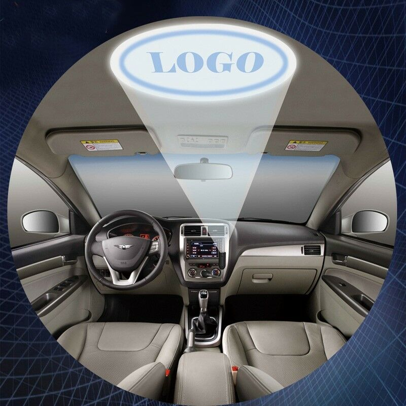 car inner cigarette roof projector ghost shadow atmosphere cree led logo light ebay. Black Bedroom Furniture Sets. Home Design Ideas