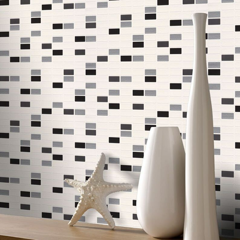 Rectangle Kitchen Floor Tiles: Kitchen & Bathroom Mosaic Rectangle Tiles Wallpaper By