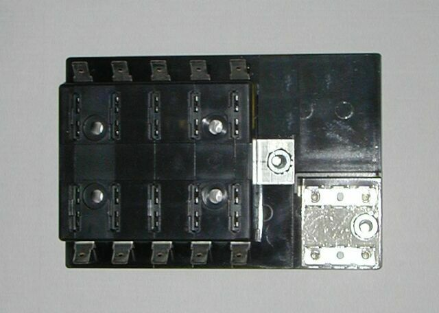 Fuse panel with grounds uses ato atc fuses hot rod