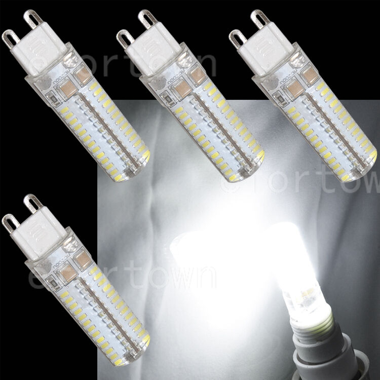 4 x g9 led bulb 5w 104 smd light lamp 75w 80w halogen replacement pure white ebay. Black Bedroom Furniture Sets. Home Design Ideas