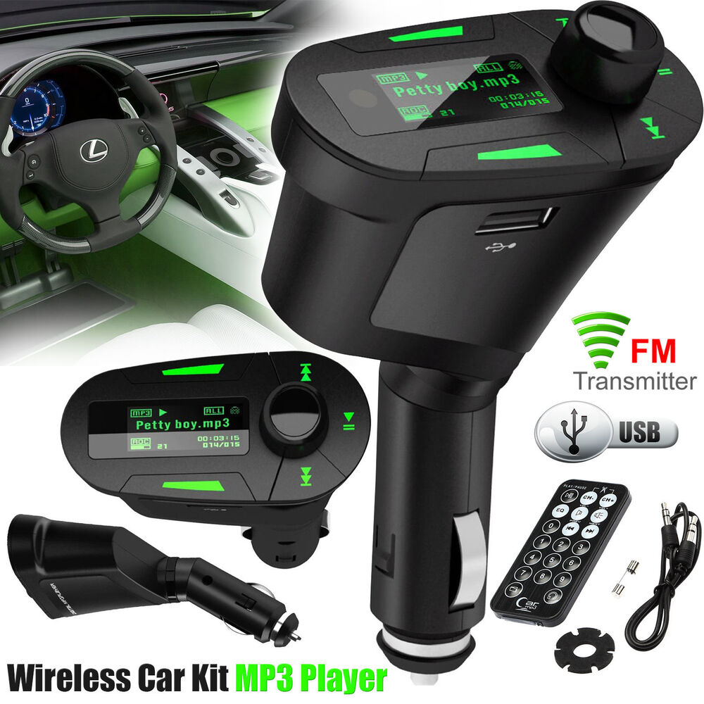 car mp3 player wireless fm radio transmitter usb sd card. Black Bedroom Furniture Sets. Home Design Ideas