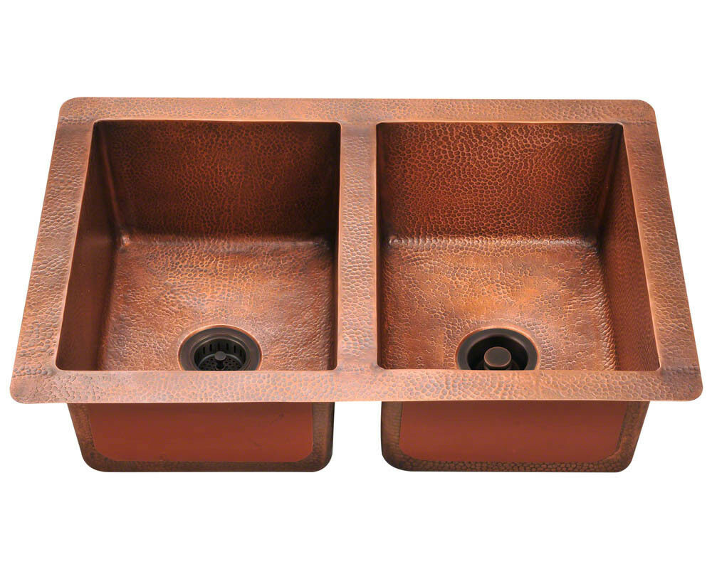 Copper Double Kitchen Sink