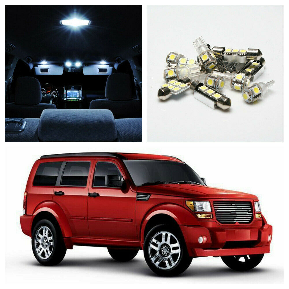 6 X Xenon White Car Led Lights Interior Package Kit For 2007 2011 Dodge Nitro Ebay