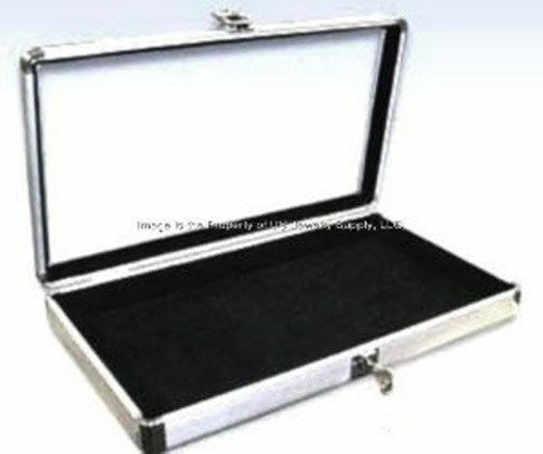 Portable Exhibition Case : Wholesale locking aluminum black earring display