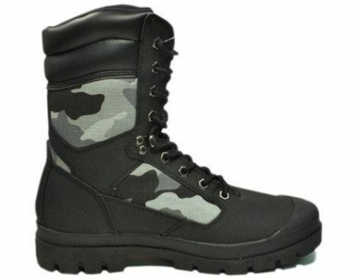 Lugz Recon Shoes Black Camouflage Canvas Military Combat