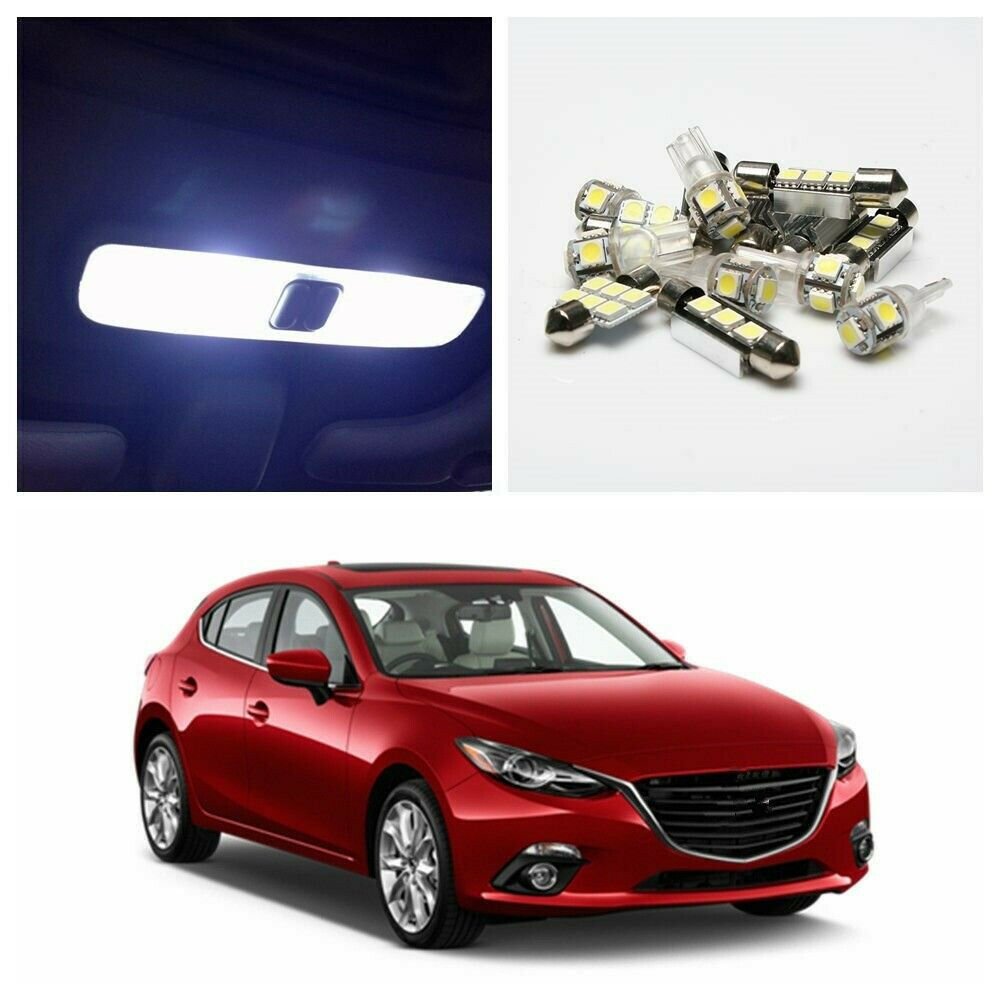 6 X Xenon White LED Light Package Kit For 2010-2012 Mazda