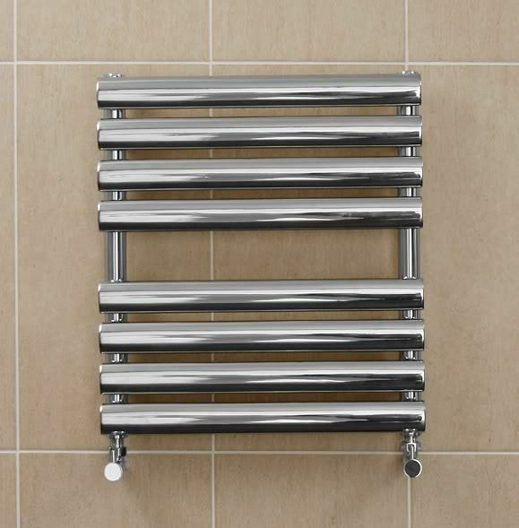 Stainless Steel Heated Towel Rail Radiator: Stainless Steel Bathroom Radiator Horizontal Wall Hung