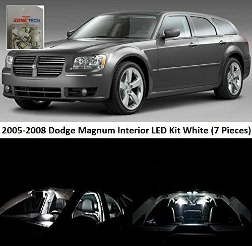 Zone tech dodge magnum 2005 2008 white led interior lights - Dodge magnum interior accessories ...